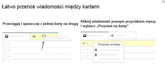 Nowy gmail - ustawienia kart