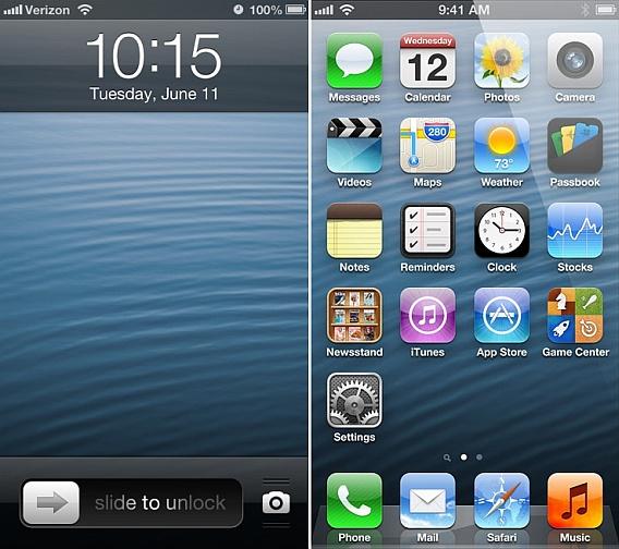 ekrany początkowe iphone