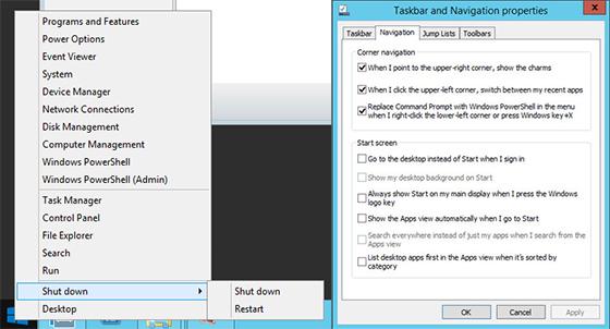 przycisk Start w Windows 8.1