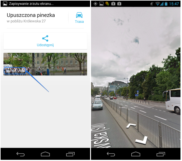 how to add street view in google maps in android
