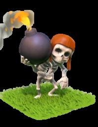 Esqueleto com bomba do Clash of Clans