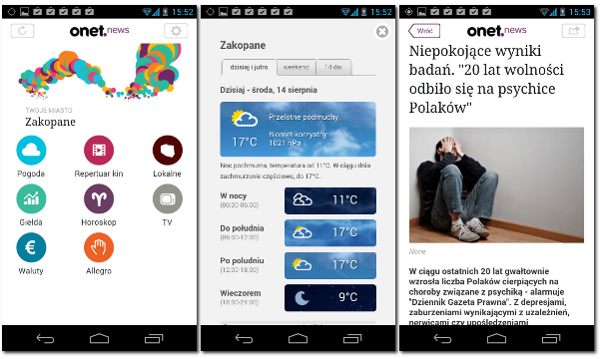 Onet News na Android