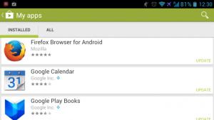 Aktualizacja sklepu Google Play – większy porządek w aktualizacjach