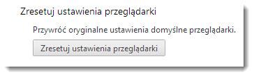 Zresetuj ustawienia Google Chrome 29