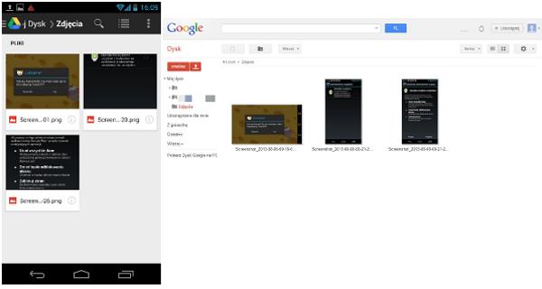 Zdjęcia w Google Drive