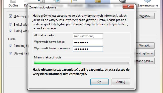 Jak ustawić hasło, które zablokuje dostęp do przeglądarki osobom niepowołanym?
