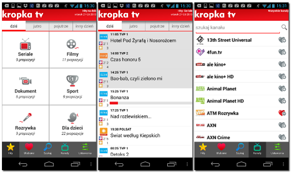 Program TV - Kropka TV na Android