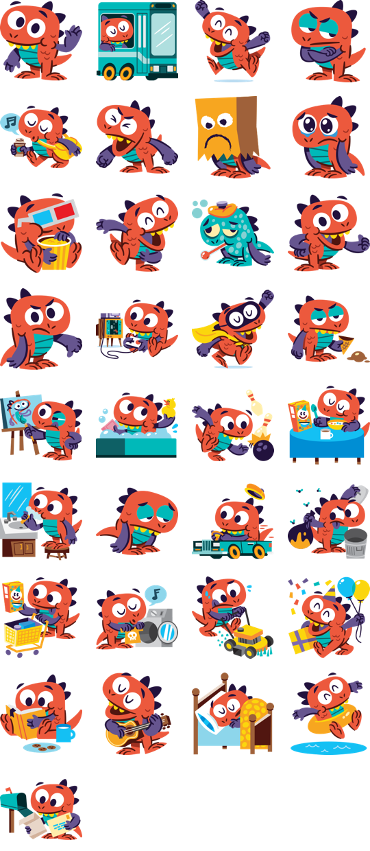 Mikey Facebook Stickers