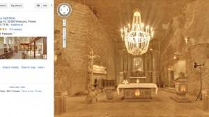 Kopalnia soli w Wieliczce w Google Street View