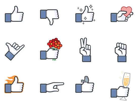 facebook dislike naklejki