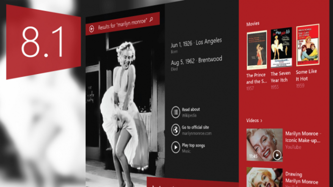 Windows 8.1 - nowa inteligentna wyszukiwarka Smart Search