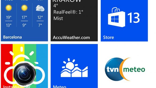5 darmowych aplikacji pogodowych na Nokia Lumia z Windows Phone