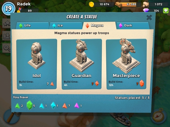 Create statues with crystals