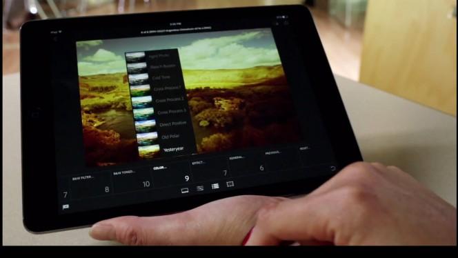 Adobe Lightroom na iPada