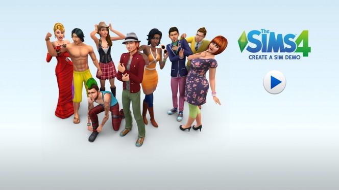 Tworzenie sima w demie The Sims 4