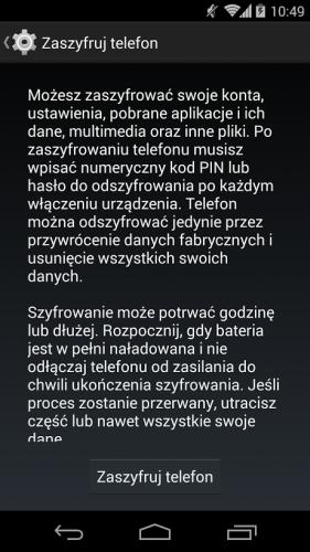 Szyfrowanie smartfona z Androidem