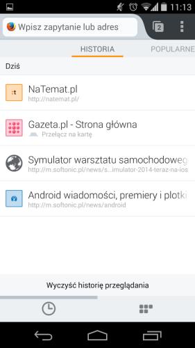 Firefox Androida