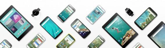 Android 5 na Nexus