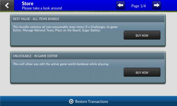 Football Manager Handheld 2015 płatne opcje