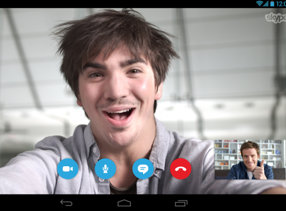 Skype na Androida