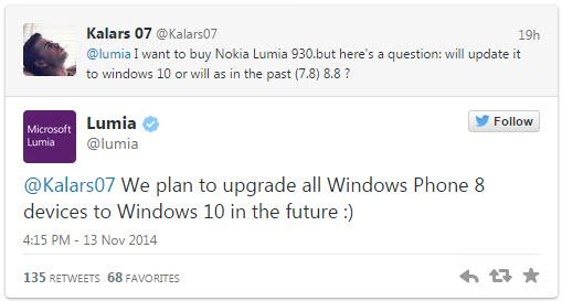 Windows 10 dla wszystkich posiadaczy Windows Phone 8
