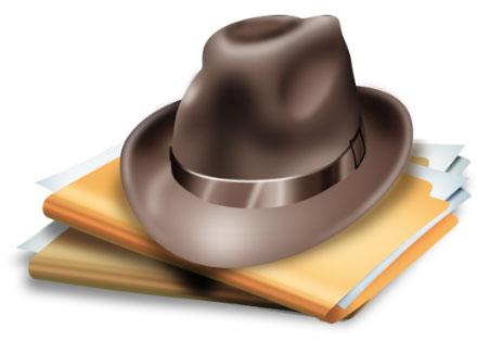 Un sombrero y carpetas