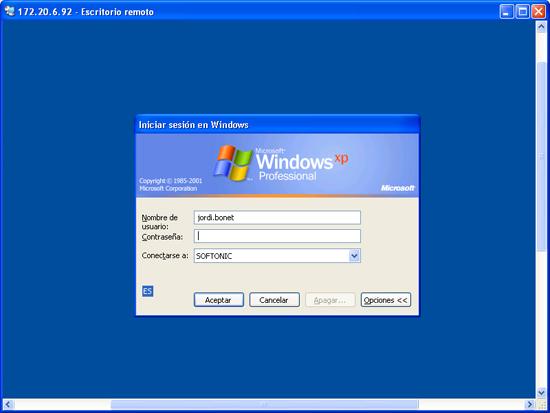 Controla ordenadores remotamente con windows xp - Conexion a escritorio remoto windows xp ...