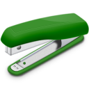 Una grapadora verde