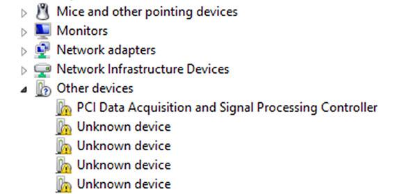 Dispositivos não reconhecidos pelo Windows