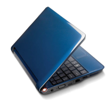 ¡Un netbook azul!