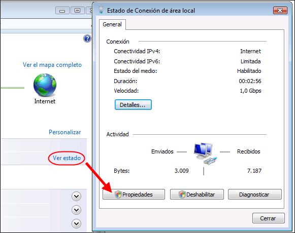 TCP/IP en Vista