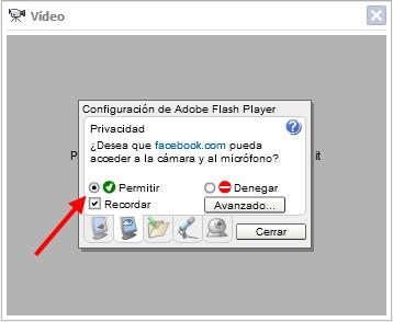 Permitir video