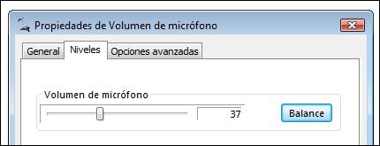 Volumen de micrófono