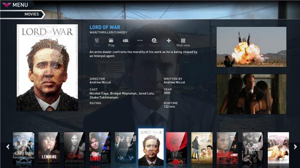 Selección de películas en Voddler