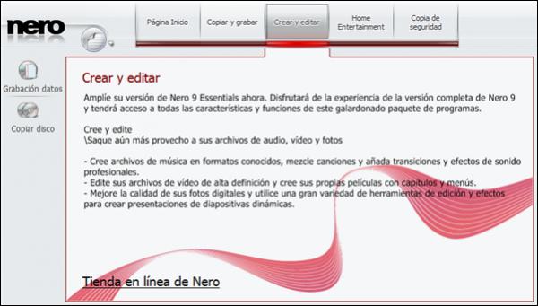Nero 9 Essentials, la versión gratuita de Nero