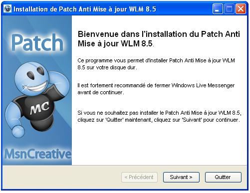 Parche anti-actualización de Windows Live Messenger 8.5
