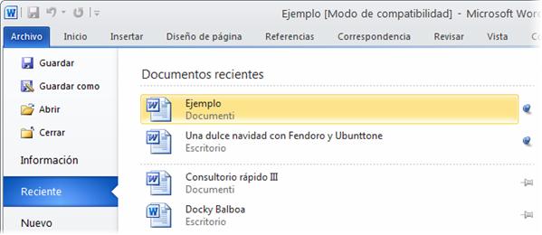 Office 2010: un aspecto más limpio