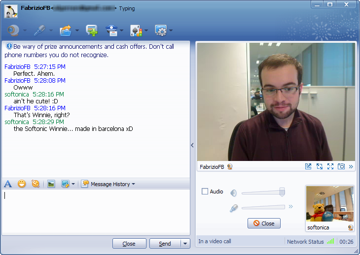 Chat voz y vídeo en QQ