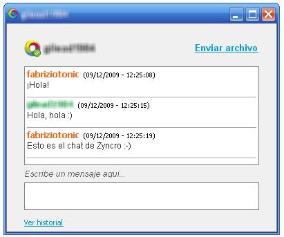 El chat de Zyncro