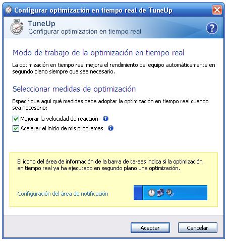 Optimización en Tiempo Real de TuneUp 2010