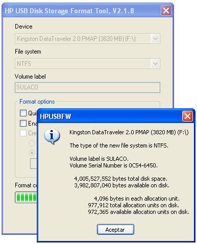 Resumen de HP UDSFT