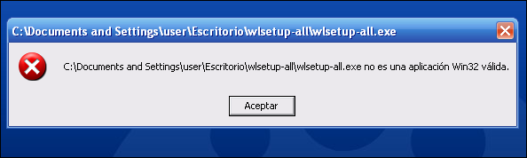 No es compatible con XP