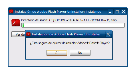 Desinstalar Flash