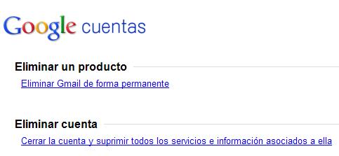 Eliminar cuenta de Gmail y de Google