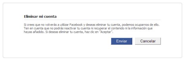 Eliminar Facebook