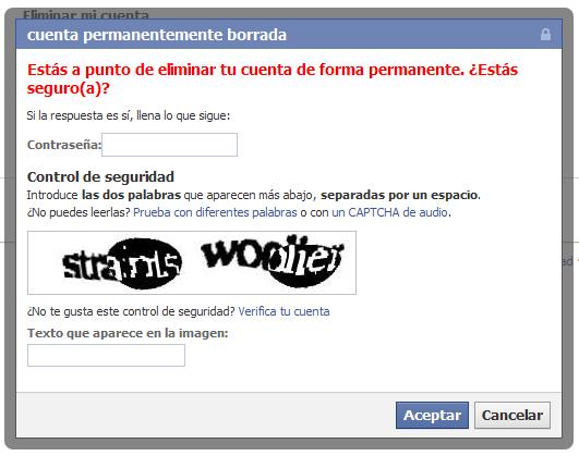 Baja en Facebook