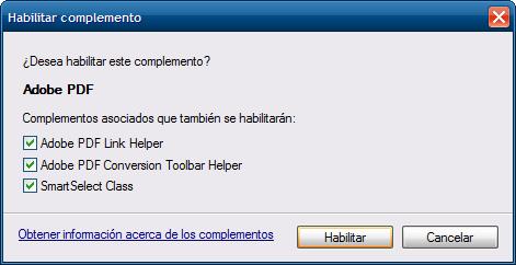 Habilitar PDF en IE