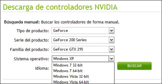 NVidia y los controladores de 64 bits