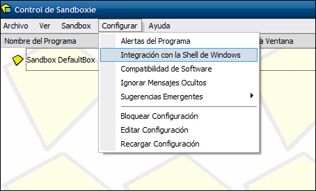 Activar integración con el Shell de Windows