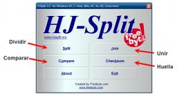 Cómo cortar y unir archivos con HJSplit
